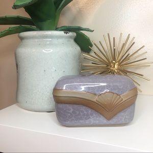 Art Deco ceramic trinket box